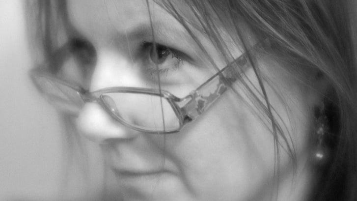 Krista tasteful  black and white portrait
